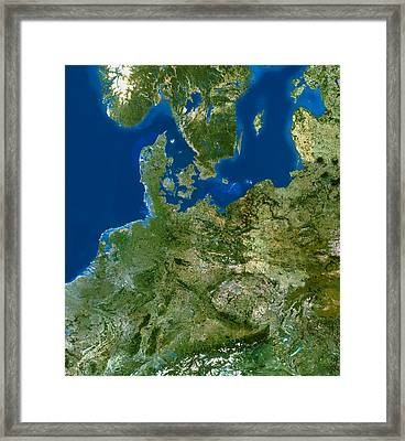 North-eastern Europe Framed Print by Planetobserver