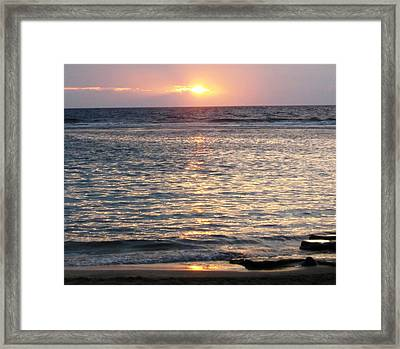 North Shore Sunset Framed Print by Sharon Farris