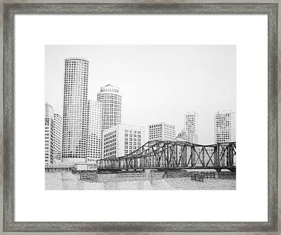 Northern Avenue Bridge - Boston Framed Print by Tim Murray