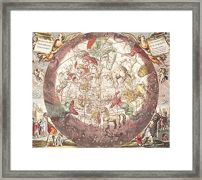 Northern Boreal Hemisphere From The Celestial Atlas Framed Print by Pieter Schenk