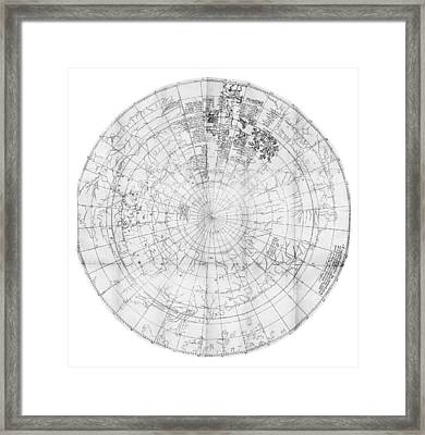 Northern Hemisphere Map, 16th Century Framed Print by Middle Temple Library
