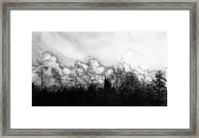 Northern Minnesota Storm Framed Print by Hannah Ostman