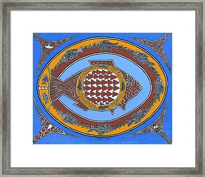 Northwest Fusion Fish Framed Print by Bart Theiler