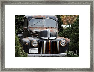 Nostalgic Rusty Old Ford Truck . 7d10280 Framed Print by Wingsdomain Art and Photography