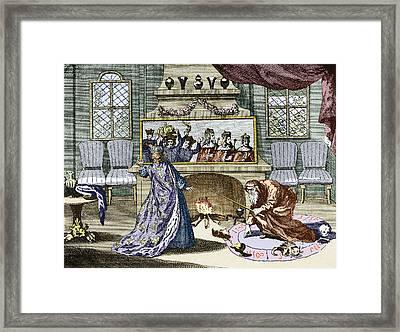 Nostradamus's Magic Mirror Framed Print by Sheila Terry
