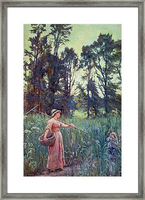 Not Far To Go Framed Print by Frederick Morgan