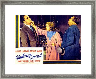 Nothing Sacred, Fredric March, Carole Framed Print by Everett