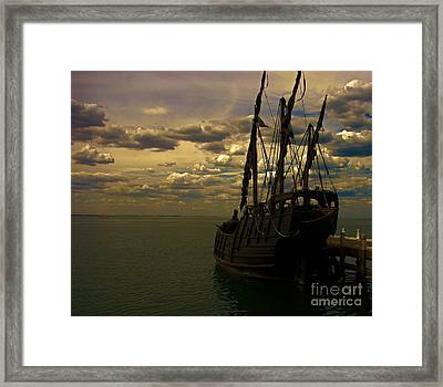 Notorious The Pirate Ship Framed Print by Blair Stuart