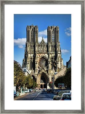 Notre-dame De Reims Framed Print by Joerg Lingnau
