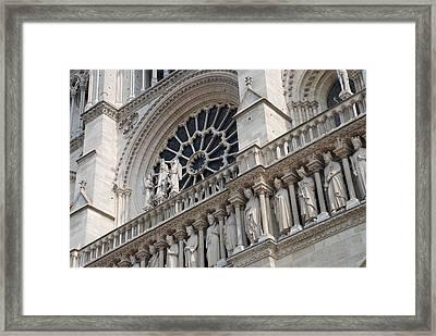 Notre Dame Details Framed Print by Jennifer Ancker