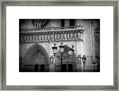Notre Dame With Luminaires Framed Print by Carol Groenen