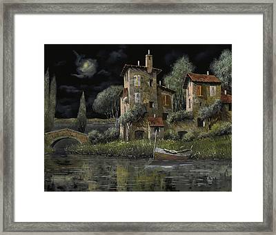 Notte Nera Framed Print by Guido Borelli