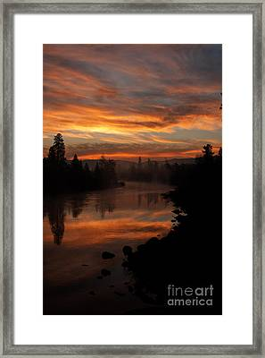 November Sunrise II Framed Print by Beve Brown-Clark Photography