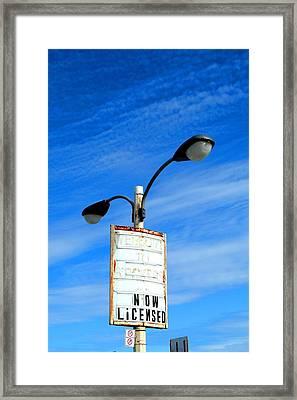 Now Licensed Framed Print by Cyryn Fyrcyd