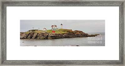 Nubble Lighthouse Framed Print by Jack Schultz