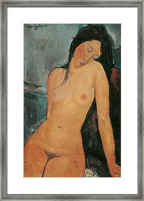 Nude Framed Print by Amedeo Modigliani