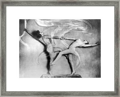 Nude Interpretive Dancers Framed Print by Underwood Archives