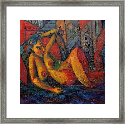 Nude No 1 Framed Print by Marina R Burch