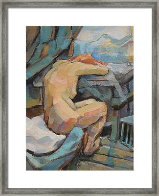 Nude Painting 3 Framed Print by Alfons Niex