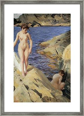 Nudes Framed Print by Anders Zorn
