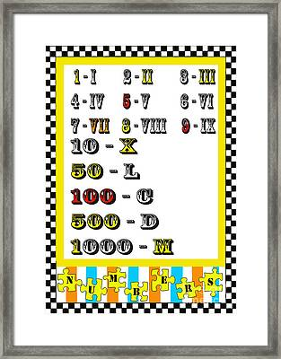 Numbers Juvenile Licensing Art Framed Print by Anahi DeCanio