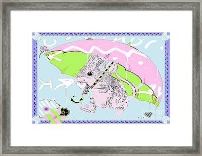 Nursery Baby Juvenile Licensing Art Framed Print by Anahi DeCanio