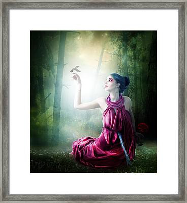 Nurturing Nature Framed Print by Mary Hood