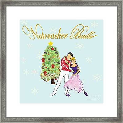 Nutcracker Ballet Romance Framed Print by Marie Loh