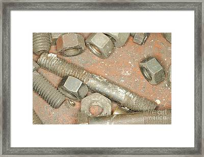 Nuts And Bolts Framed Print by Shannon Fagan