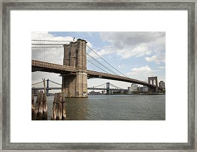 Ny Bridges 1 Framed Print by Art Ferrier
