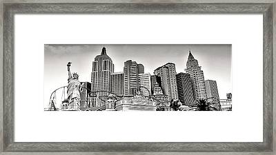 Ny In Lv Framed Print by Photography Art