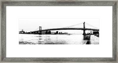 Nyc - Manhattan Bridge Framed Print by Hannes Cmarits