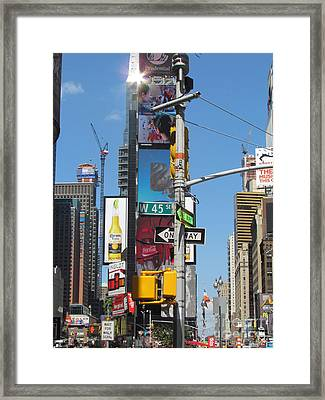 Nyc Directions Framed Print by Randi Shenkman