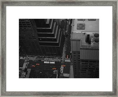 Nyc From The Top 1 Framed Print by Naxart Studio
