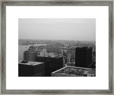 Nyc From The Top 2 Framed Print by Naxart Studio