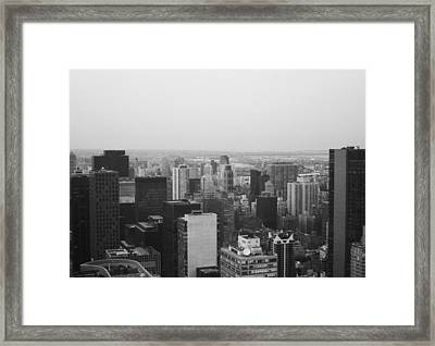 Nyc From The Top 3 Framed Print by Naxart Studio