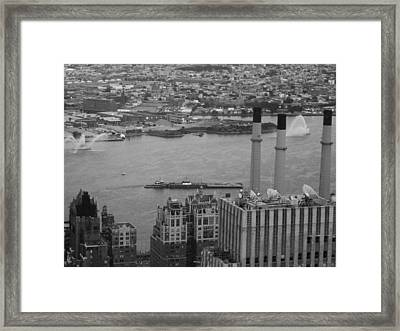 Nyc From The Top 4 Framed Print by Naxart Studio