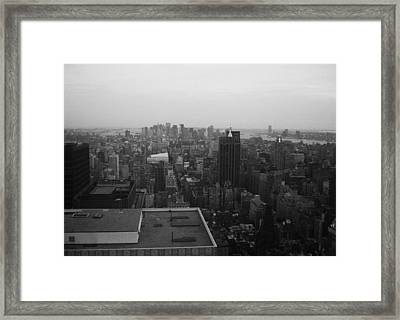 Nyc From The Top 5 Framed Print by Naxart Studio