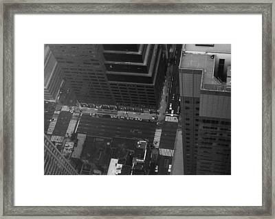 Nyc From The Top Framed Print by Naxart Studio