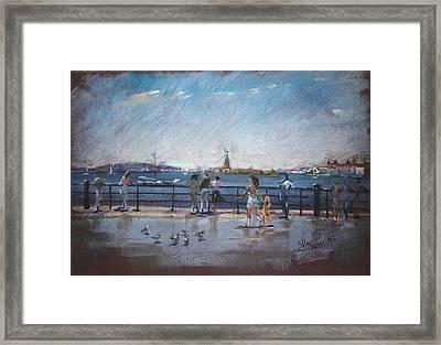 Nyc Grand Ferry Park 2 Framed Print by Ylli Haruni