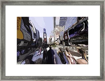 Nyc Impression Framed Print by Robert Ponzoni