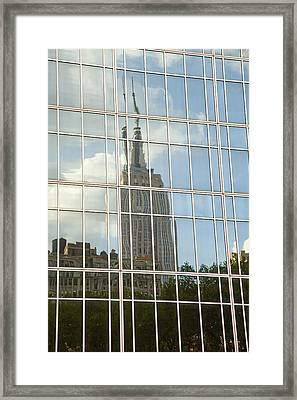 Nyc Reflection 4 Framed Print by Art Ferrier