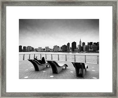 Nyc Relax Framed Print by Nina Papiorek