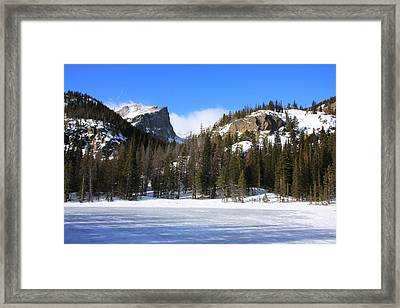 Nymph Lake And Hallett Peak Framed Print by Cynthia  Cox Cottam