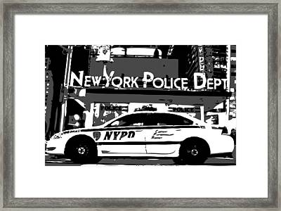 Nypd Bw3 Framed Print by Scott Kelley