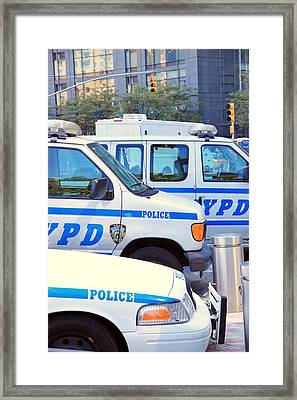 Nypd Framed Print by Valentino Visentini
