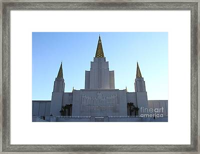 Oakland California Temple . The Church Of Jesus Christ Of Latter-day Saints . 7d11326 Framed Print by Wingsdomain Art and Photography