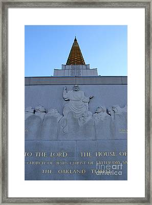 Oakland California Temple . The Church Of Jesus Christ Of Latter-day Saints . 7d11333 Framed Print by Wingsdomain Art and Photography