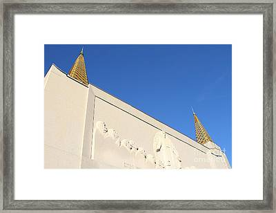 Oakland California Temple . The Church Of Jesus Christ Of Latter-day Saints . 7d11347 Framed Print by Wingsdomain Art and Photography