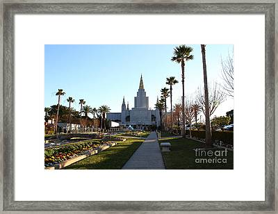 Oakland California Temple . The Church Of Jesus Christ Of Latter-day Saints . 7d11371 Framed Print by Wingsdomain Art and Photography